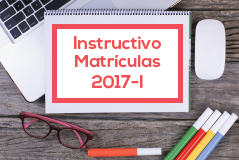 Instructivo de matrículas para el 2017-I