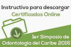 Certificado Digital - 1er Simposio de Odontología del Caribe