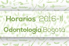 Horarios 2016-II Odontología - Sede Bogota